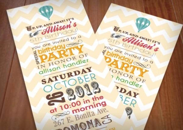 Retro Party Invitations