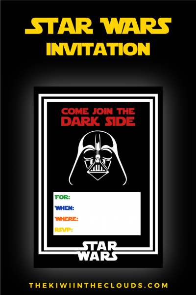Come Join The Dark Side Free Printable Star Wars Birthday Party