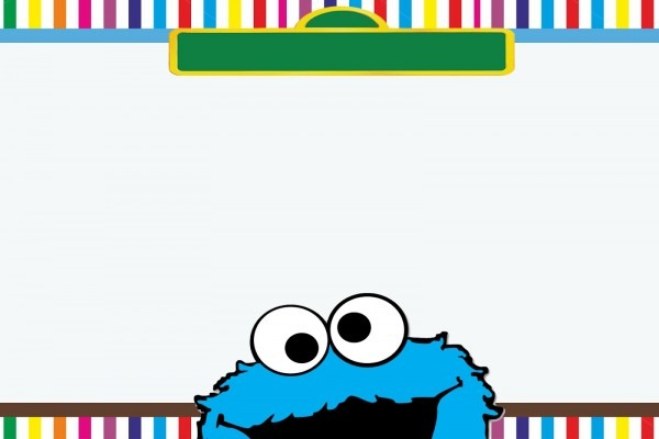 Ffffbfcababdffac Epic Cookie Monster Invitation Template Free
