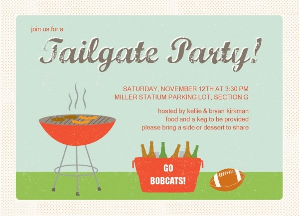 Cool Tailgate Party Invitation To Design Printable Party