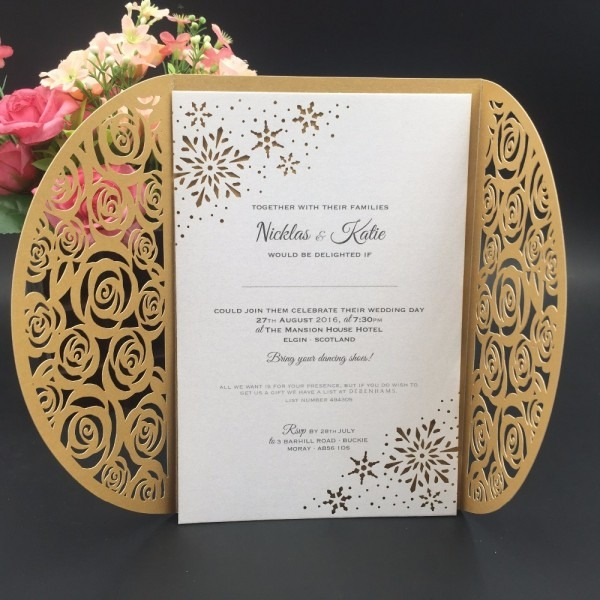 Custom Luxury Butterfly Laser Cut English Nepali Marriage Wedding