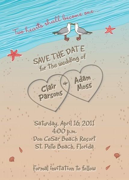 Beach Wedding Invitation Wording   Beach Wedding Invitation Sample
