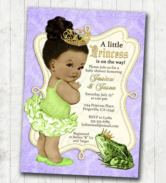 Princess And The Frog Invitation Frog Prince Baby Shower Or
