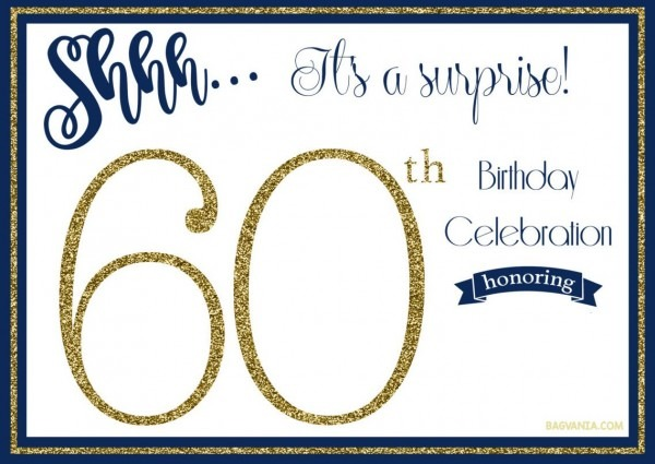 Dacfedfcfcbb Lovely Free Printable Surprise 60th Birthday