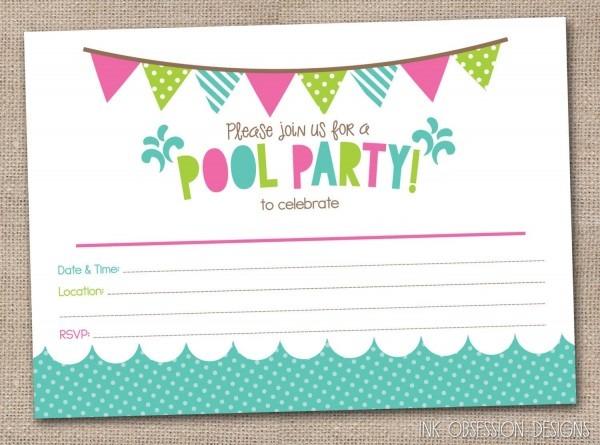 Debadbcaabeb Perfect Free Printable Pool Party Birthday