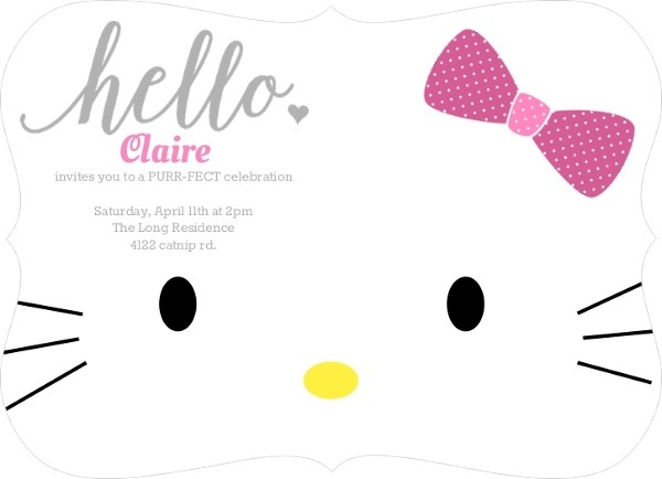 Hello Kitty Invitations Ideas