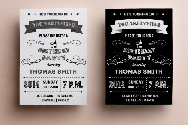 Design Sophisticated Birthday Invitations For Him With Simple Free
