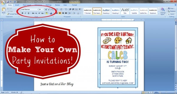 Make Your Own Invitations Free Printable