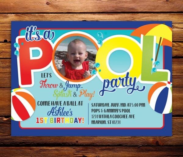 19+ Amazing Pool Party Invitations