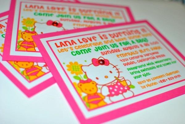 Sweet Lily Pie  Hello Kitty Invitations