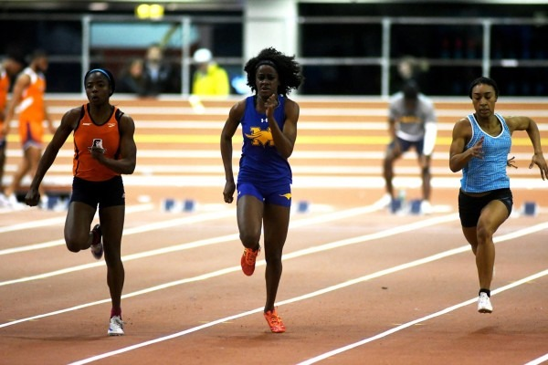 Monroe College Women's Track And Field Team Competes At Armory