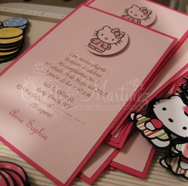 Hello Kitty Ballon Invitations