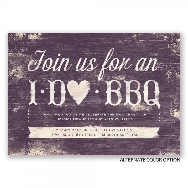 I Do Bbq Wedding Invitations