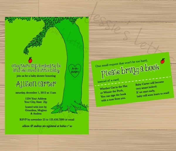 My All Time Favorite Book! Custom Made Giving Tree Baby Shower