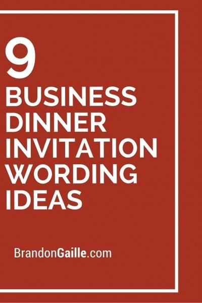 9 Business Dinner Invitation Wording Ideas