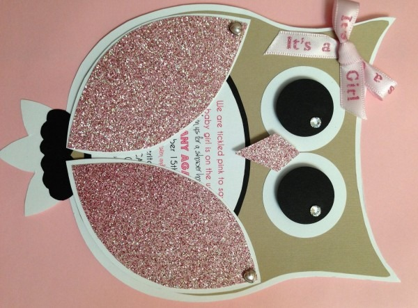Diy Girl Owl Baby Shower Invites  Time Consuming But So Cute We