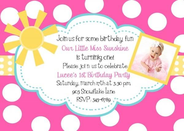 Cupcake Birthday Invitation Cute Polka Dots Year Old Girl Year Old