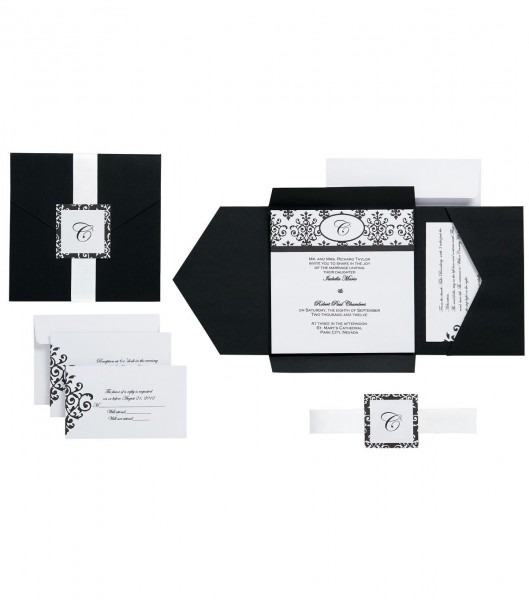 Wilton 25pk Scroll Monograminvitation Kit