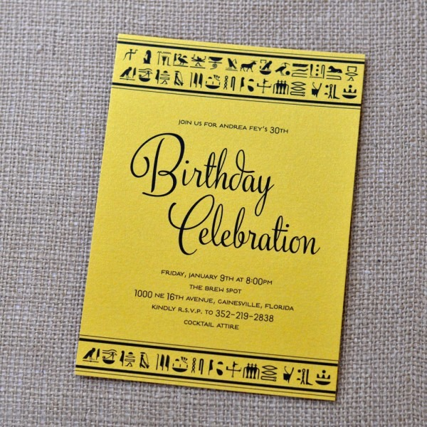 Egyptian Birthday Party Invitation Related Keywords & Suggestions