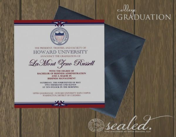 Collection Of College Graduation Invitation Templates Etiquette