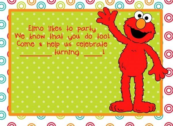 Elegant Elmo Birthday Party Invitations For Your Invitations