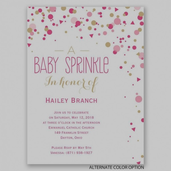 Elegant Of Baby Shower Invitation Information Bright Sprinkles