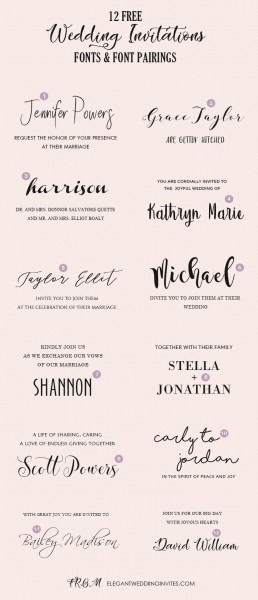 Wedding Invitation Font Pairing Guide With Free Killer Fonts To