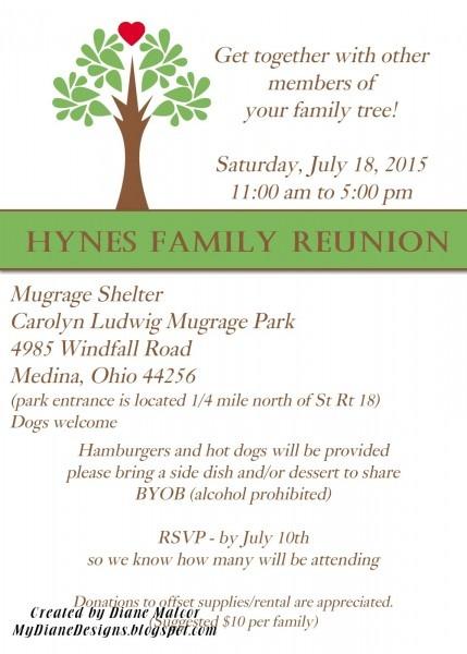 Mydiane Designs  Family Reunion Invite
