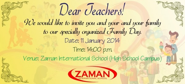 I Love Khmer Cambodia  Family Day Invitation Card To Teacher