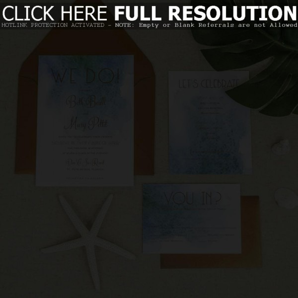 Lovely Beach Theme Wedding Invitations About Remodel Invitation