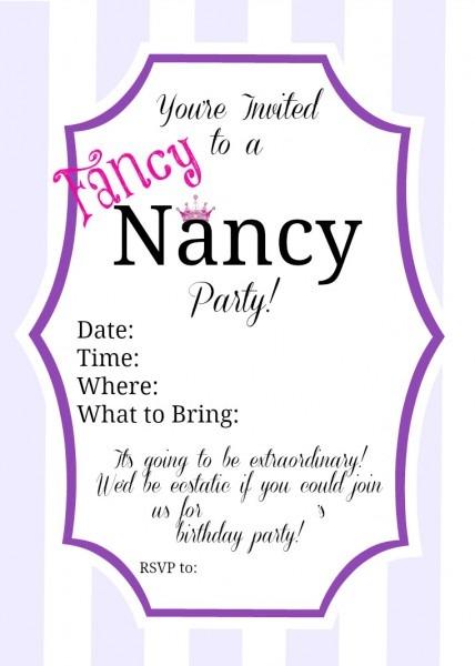 Fancy Nancy Party Inspiration
