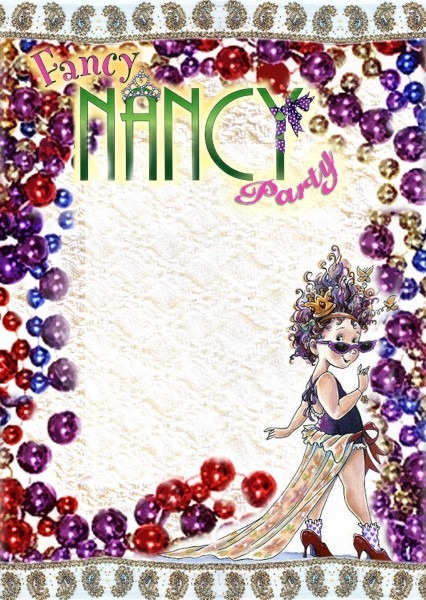 Free Kids Party Invitations  Fancy Nancy Printable Invitation