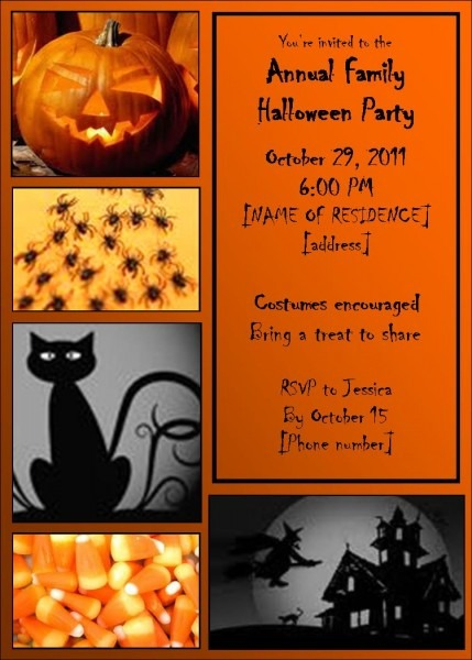 Artistic Halloween Birthday Invitations Template Halloween