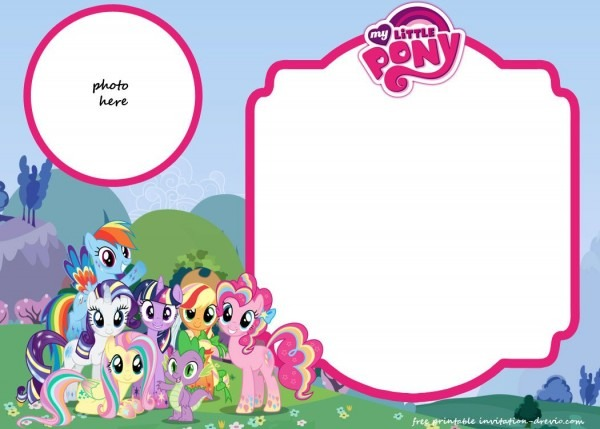 Fbbbecfaddec Cool Pony Party Invitation Templates