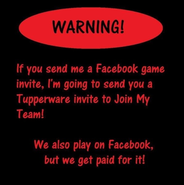 Lol Facebook Game Request Or Tupperware Party Invites