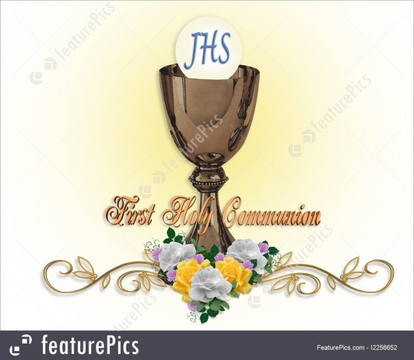Templates  First Holy Communion Invitation Background