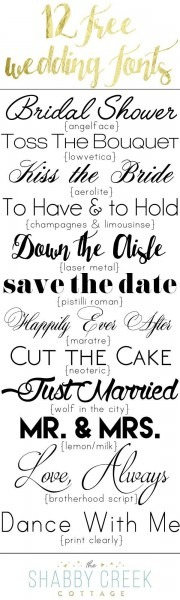 Font Suggestions For Wedding Invitations Best Fonts For Wedding