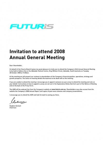 Format Of Meeting Notice Sample Extraordinary General Housing