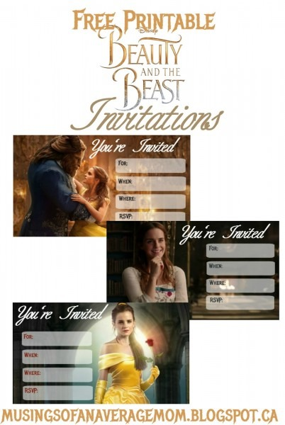 Musings Of An Average Mom  Beauty And The Beast 2017 Invitations
