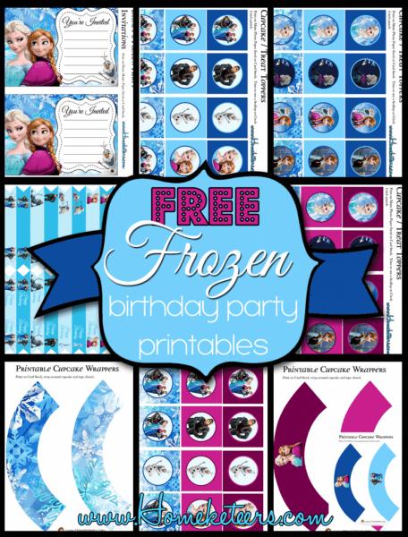 Disney's Frozen Birthday Party Printable Set ~ Free
