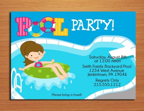 Free Pool Party Invitation Printable Lovely Swimming Party