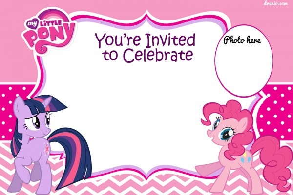 Free Printable My Little Pony Pink And Polka Dot Invitation
