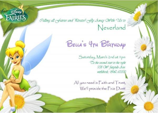 Printable Tinkerbell Invitations