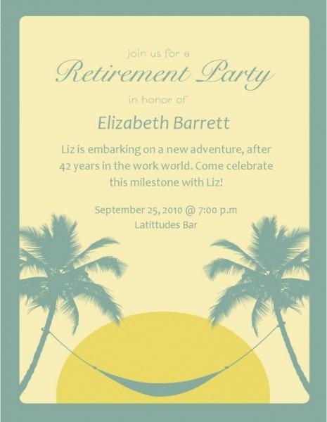 Free Retirement Invitation Templates For Word Invitations Elegant