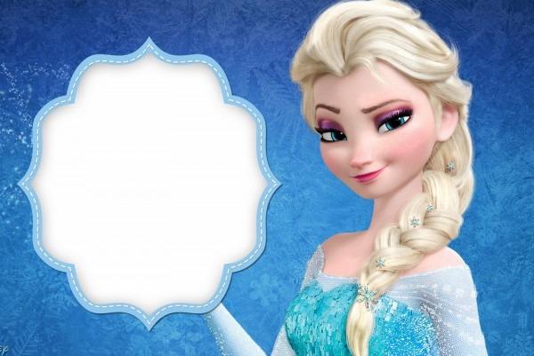 Frozen Simple Frozen Elsa Birthday Invitation Card