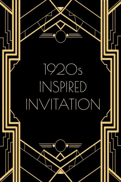 Gatsby Party Invitation Gatsby Party Invitation Inspiration Party