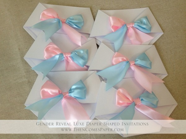 Cotton Candy Pink And Blue Diaper Baby Shower Invitation – First