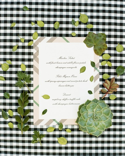 A Preppy Garden Gingham Inspired Rehearsal Dinner Look
