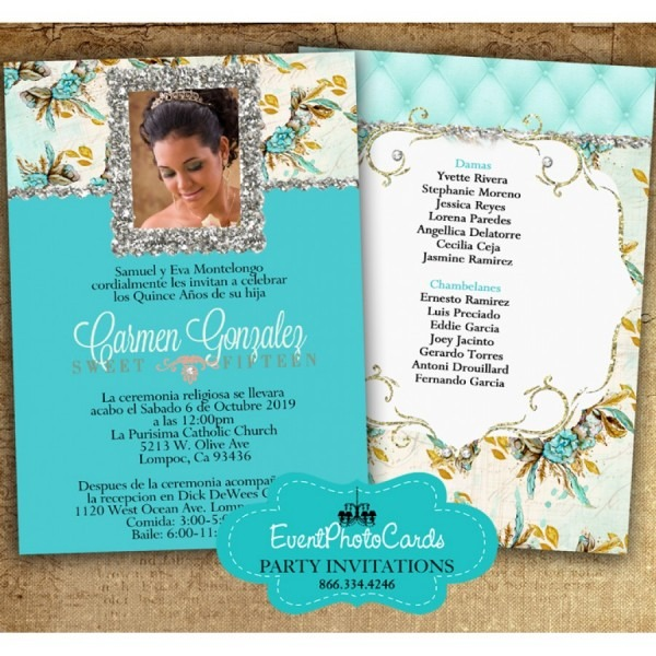 Buy Our Quinceanera Invites! We Offer Matching Products And Free