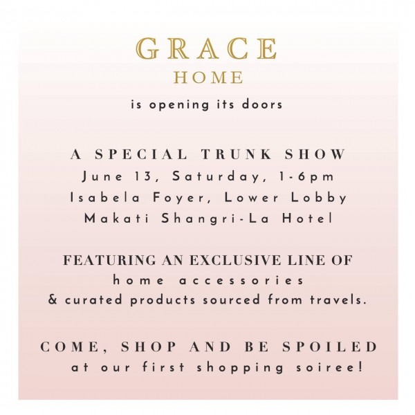 Grace Home's First Trunk Show  An Invitation
